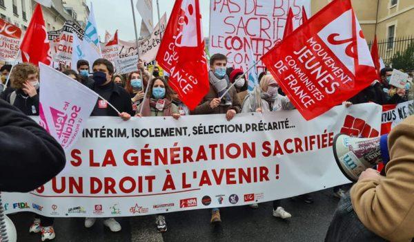 La jeunesse dans la rue le 5 octobre : en cette rentrée, mettons un coup d'arrêt aux mesures qui dégradent nos conditions de vie et d'étude !